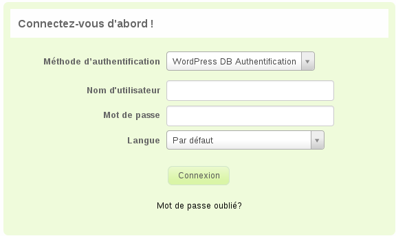 Authenticate your LimeSurvey admin users with wordpress